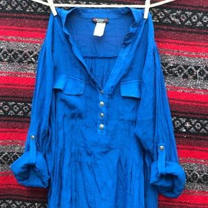 Beautiful Blue Cocomo Blouse.